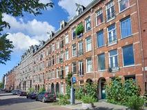 公寓在阿姆斯特丹,荷兰的老市中心 图库摄影