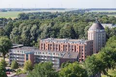 公寓在Emmeloord,荷兰城市在开拓地 免版税库存图片