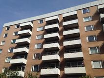 公寓在Sodermalm,斯德哥尔摩,瑞典 免版税库存图片