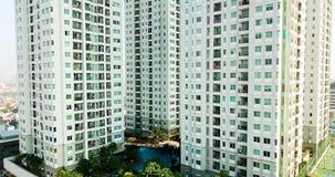 公寓复杂在雅加达市 股票视频