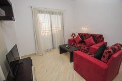 公寓客厅展示家的室内设计 图库摄影