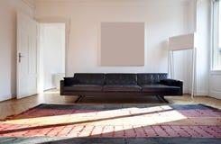 公寓居住的好的被整修的空间 库存图片