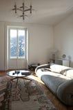 公寓居住的好的被整修的空间 库存照片