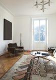 公寓居住的好的被整修的空间 免版税库存图片