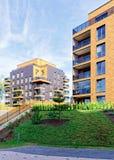 公寓居民住房现代欧洲建筑学  免版税库存图片