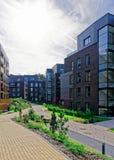 公寓居民住房q现代欧洲建筑学  免版税图库摄影