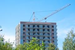 公寓建造场所 免版税库存图片
