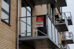 公寓房和售屋在丹麦 库存图片