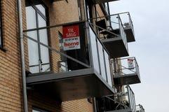 公寓房和售屋在丹麦 图库摄影