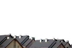 公寓查出的附近屋顶屋顶rowhouse 库存照片