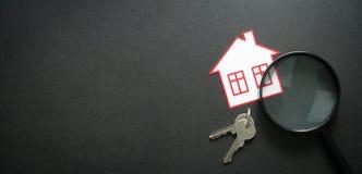 公寓查寻 实际概念的庄园 免版税库存照片