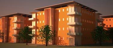 公寓楼 向量例证