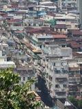 公寓海说明密集地居住于的澳门的一张好图片 图库摄影