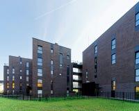 公寓现代玻璃建筑学  库存图片