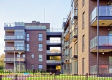 公寓玻璃现代建筑学  免版税图库摄影