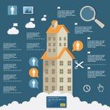 公寓的企业infographic建筑平的设计的 皇族释放例证