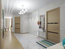 公寓的内部走廊 免版税库存图片