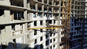 公寓的建筑 从空气的射击 股票视频