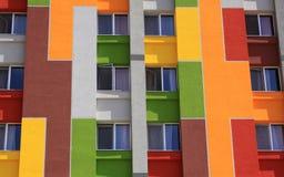 公寓的色的门面 免版税库存图片