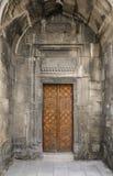 公寓的门户 17世纪的建筑纪念碑在老镇,巴库,阿塞拜疆 库存照片