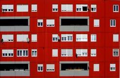 公寓砖瓦房门面纹理 免版税库存照片