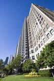 公寓芝加哥湖边平地 免版税库存照片