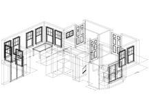 公寓计划设计-被隔绝的建筑师图纸 皇族释放例证