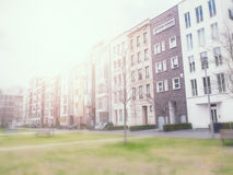 公寓选择聚焦在冬天 库存照片