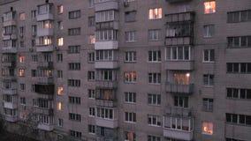 公寓timelapse在晚上 股票录像