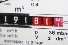 公尺的煤气表 库存照片