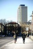 公平交易塔和耸立185法兰克福 图库摄影