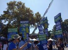 公平劳动节的街的,拉塞福, NJ,美国民主党 库存图片