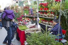 公平圣诞老人Llucia的圣诞节,巴塞罗那 库存图片