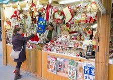 公平圣诞老人Llucia的圣诞节,巴塞罗那 免版税库存照片