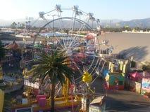公平的庆祝Birdseye视图在洛杉矶郡的公平在波诺马 免版税图库摄影
