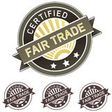 公平的标签产品贴纸贸易 免版税库存图片