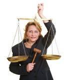 公平的法官 免版税库存照片