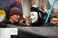 公平的竞选的集会在俄罗斯 免版税图库摄影