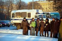公平的竞选的集会在俄罗斯 图库摄影