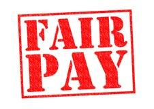 公平的薪水 皇族释放例证