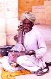 公平的骆驼的音乐家, Jaisalmer,印度 免版税库存照片