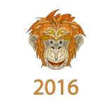 公平的猴子2016年标志动画片 图库摄影