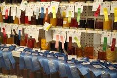 公平阿肯色的状态-奖赢取的装于罐中的词条 库存图片