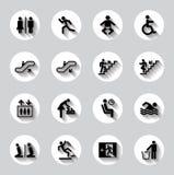 公开人标志传染媒介集合 库存照片