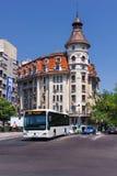 公开公共汽车在布加勒斯特罗马尼亚 免版税库存照片