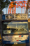 公开公共汽车152 La boca,布宜诺斯艾利斯,阿根廷 免版税库存图片