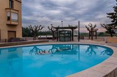 公开喷泉在卡塔龙尼亚 免版税库存照片
