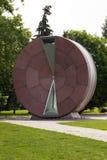 公开巨型滴漏在布达佩斯,匈牙利叫Timewheel 库存图片