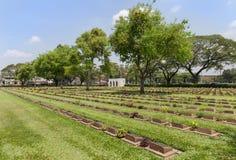 公开战争公墓唐Rak是第二次世界大战的联盟的囚犯的历史纪念碑在T的 免版税库存照片