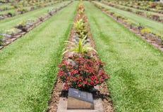 公开战争公墓唐Rak是第二次世界大战的联盟的囚犯的历史纪念碑在T的 库存图片